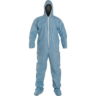 Dupont Personal Protection Coverall, TemPro Hood w/Boots, Blue, 4XL, 10/Pack (TM122S-4X)