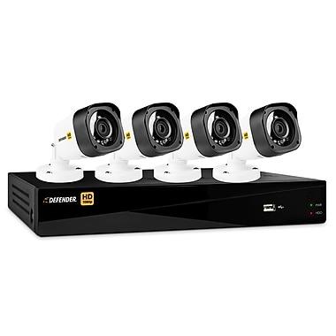 DefenderMD – Enregistreur 1 To 4 canaux HD 1080p et 4 caméras de surveillance, visionnement sur appareil mobile et Web (HD1T4B4)