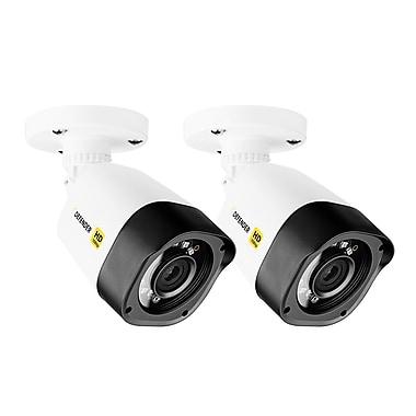DefenderMD – Caméra de surveillance Bullet HD 1080p, intérieur/extérieur, longue portée, vision nocturne, 2/pqt (HDCB1)