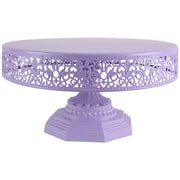 AmalfiDecor Isabelle Metal Cake Stand; Lavender
