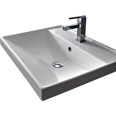Scarabeo by Nameeks ML 24'' Wall Mounted Bathroom Sink w/ Overflow; Three Holes
