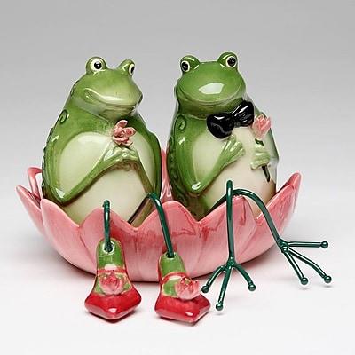 CosmosGifts Frog 2 Piece Salt and Pepper Set