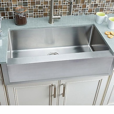 Hahn Notched 35.88'' x 20.75'' Single Bowl Farmhouse Kitchen Sink