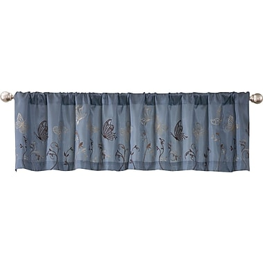 Lush Decor Butterfly Dreams 84'' Window Valance; Blue/Brown