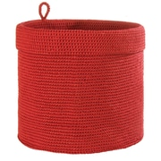Heritage Lace Mode Crochet Round Basket; Ruby Red
