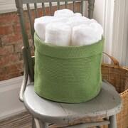 Heritage Lace Mode Crochet Round Basket; Sage