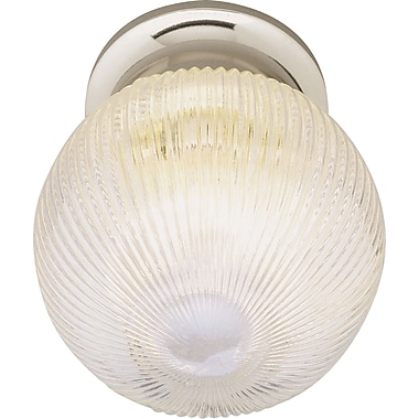 TransGlobe Lighting Builder Flush Mount; White