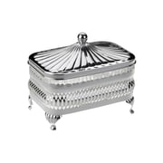 Corbell Silver Company Queen Anne 2 Piece Oblong Butter Dish