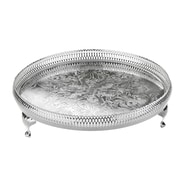 Corbell Silver Company Queen Anne Round Gallery Tray