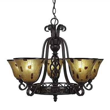 Toltec Lighting Elegant 5-Light Shaded Chandelier