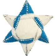 Arcadia Home Hand Felted Wool Star of David Tree Topper