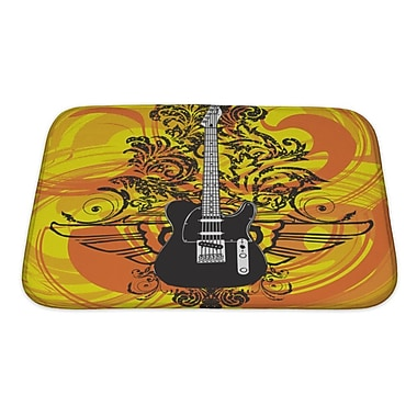 Gear New Instruments Abstract Electric Guitar Bath Rug; Small