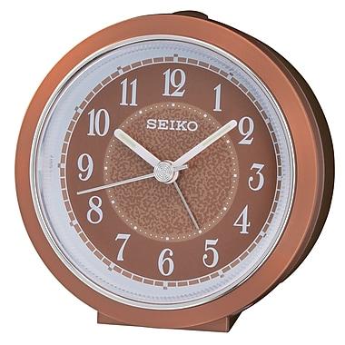 Seiko – Réveil QHE111F, 3 1/2 x 3 1/2 x 1 3/4 po, bronze