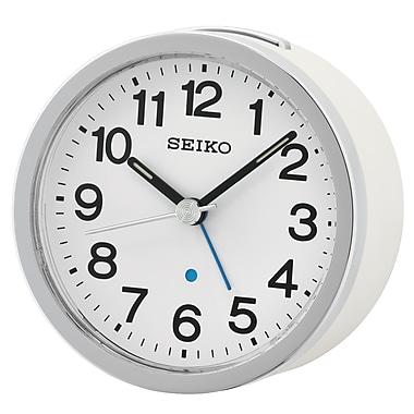 Seiko – Réveil QHE138W, 3 3/8 x 3 3/8 x 2 (po), blanc
