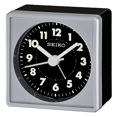 Seiko – Réveil QHE083S, 2 3/8 x 2 1/4 x 1 3/8 po, gris