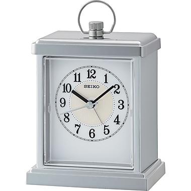 Seiko – Horloge de cheminée QHE148S, 5 3/4 x 4 x 2 1/2 (po), argenté