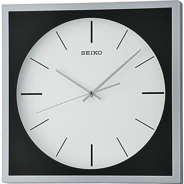 Seiko – Horloge murale QXA673S, 12 1/4 x 12 1/4 x 1 5/8 po, argenté