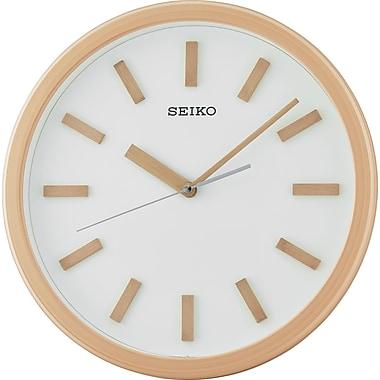 Seiko – Horloge murale QXA681Z, 13 3/4 diag. x 1 3/4 (po), brun