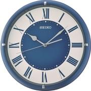 Seiko – Horloge murale à chiffres romains, 12 1/4 diag. x 1 1/2 (po), bleu (QXA669L)