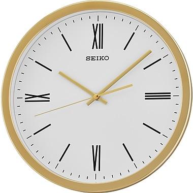 Seiko – Horloge murale QXA676G, 12 1/4 diag. x 1 3/4 (po), doré