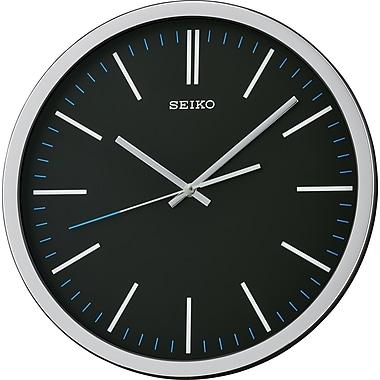 Seiko – Horloge murale QXA676K, 12 1/4 diag. x 1 3/4 (po), noir