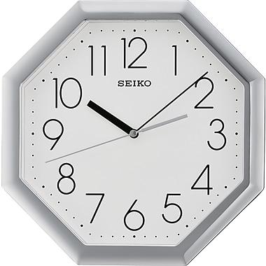Seiko – Horloge murale QXA668S, 11 1/4 x 11 1/4 x 1 5/8 (po), argenté