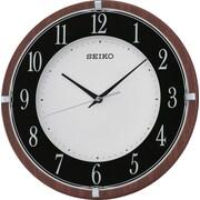 Seiko – Horloge murale QXA678Z, 11 7/8 diam. x 1 5/8 (po), brun