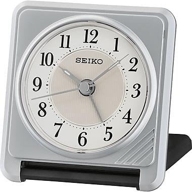 Seiko – Réveil de voyage QHT016S, 3 1/8 x 2 7/8 x 1 po, argenté