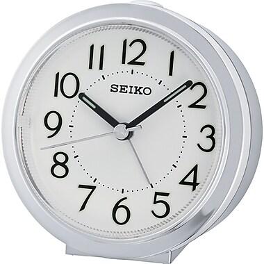 Seiko – Réveil QHE146S, 3 1/2 x 3 1/2 x 1 3/4 (po), argenté