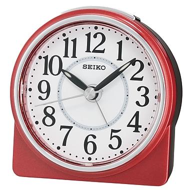 Seiko – Réveil QHE137R, 3 5/8 x 3 3/8 x 1 5/8 (po), rouge