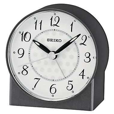 Seiko – Réveil QHE136K, 3 1/4 x 3 1/8 x 1 3/4 (po), noir