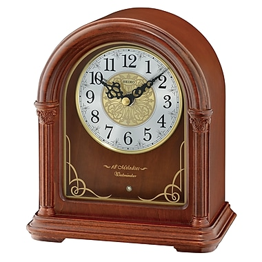 Seiko QXW244B Musical Wooden Mantel Clock, 8
