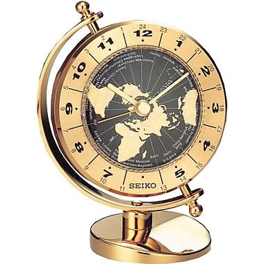 Seiko QHG106G Sweeping Desk Clock, 3 5/8