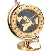 Seiko – Horloge de bureau à balayage QHG106G, 3 5/8 x 3 3/4 x 6 1/8 po, doré