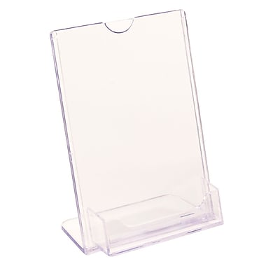 FFR Merchandising Tru-Vu Business Card Styrene Sign Holder, 6
