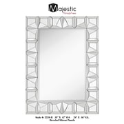 Majestic Mirror Simple Contemporary Rectangular Wood Framed Mirror w/ Beveled Glass Mirror Panels