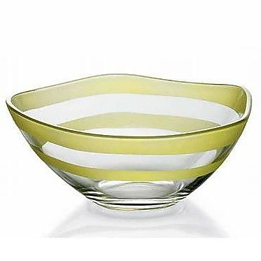 Majestic Crystal Nuvole Glass Individual Candy / Nut Bowl; Green