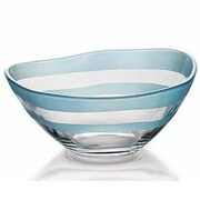 Majestic Crystal Nuvole Glass Individual Serving Bowl; Light Blue
