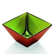 Majestic Crystal Madison Glass Individual Serving Bowl; Orange / Green