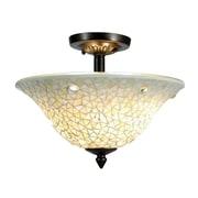 QSPL Jeweled 3-Light Semi Flush Mount