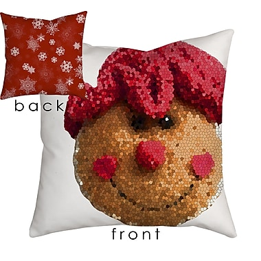 SafiyaJamila Holiday Treasures Gingerbread Lady Throw Pillow; 18'' H x 18'' W