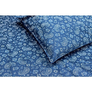Thread Experiment Bandana 100pct Cotton - Sateen Sheet Set; Queen