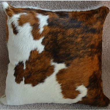 Pergamino Tricolor Cowhide Throw Pillow