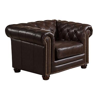 Amax Kensington Top Grain Leather Chesterfield Armchair