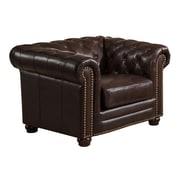 Amax Kensington Top Grain Leather Chesterfield Armchair