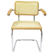 Breuer Chair Company Cesca Arm Chair; Honey Oak