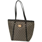 Merangue Patterned Lunch Bag, Black/Tan