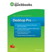 QuickBooks Desktop Pro 2017 Accounting Software, English (1 User)