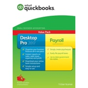 QuickBooks Desktop Pro Plus Payroll 2017 Accounting Software, English (1 User)