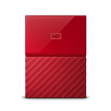 WD My Passport 1 TB Portable Hard Drive, Red (WDBYNN0010BRD-WESN)